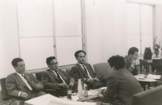 事務所創立の日のスナップ